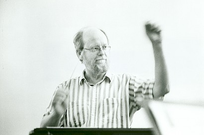 Charles Wuorinen conducting in Germany