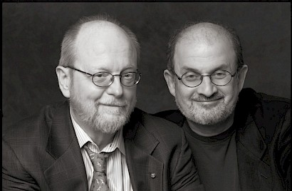 Charles Wuorinen with Salman Rushdie
